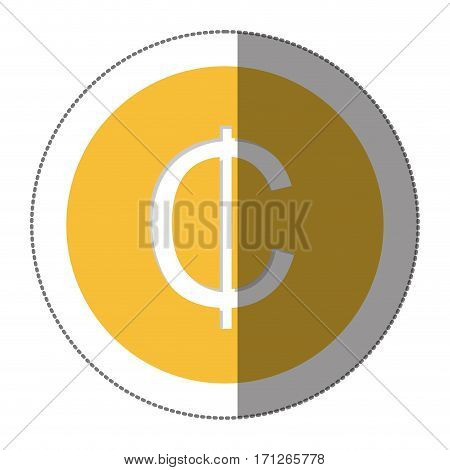 ghanaian cedi currency symbol icon image, vector illustration