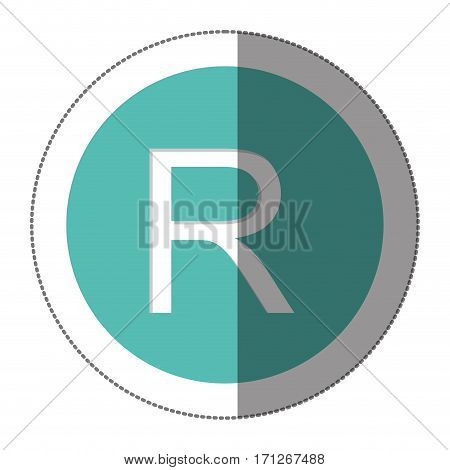 rand currency symbol icon image, vector illustration
