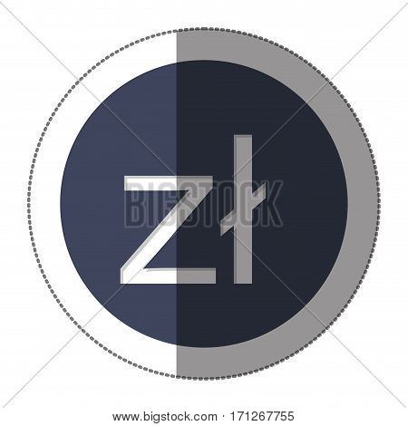 polish zloty currency symbol icon image, vector illustration