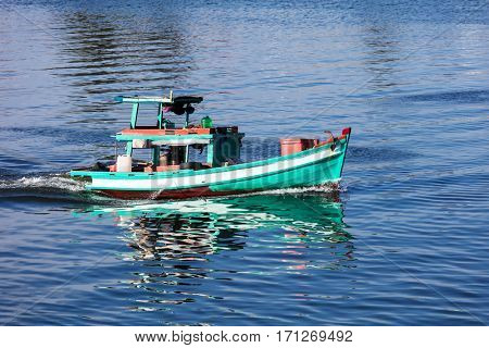 fishing boat in the gulf of Phu Quoc island