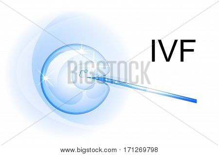 vector illustration of artificial insemination. the egg and sperm