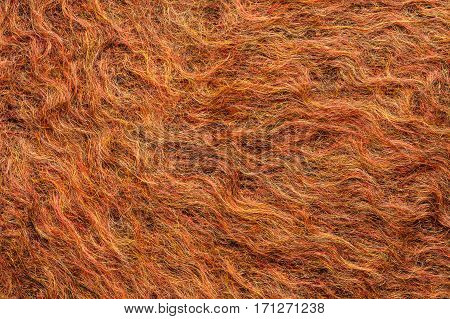 Fuzzy Colorful Woolen Red Cloth Background Texture Close Up.