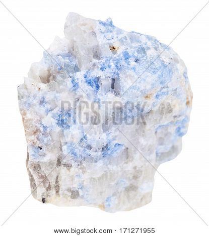 Piece Of Blue Wischnevite (vishnevite) Isolated