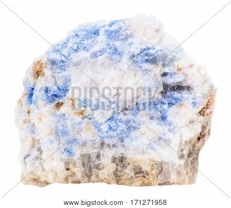 Specimen Of Blue Wischnevite (vishnevite) Isolated