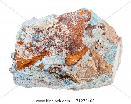 Piece Of Scorodite Stone (arsenic Ore) Isolated