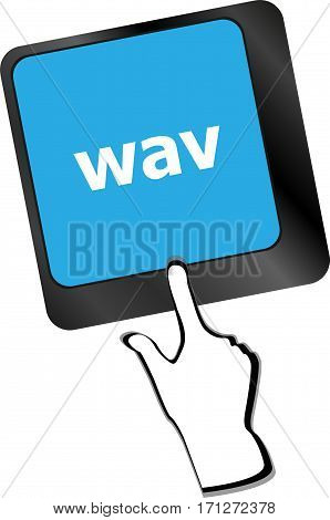 Wav Word On Keyboard Keys Button With People Hand