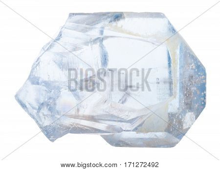 Crystal Of Celestine Stone Isolated