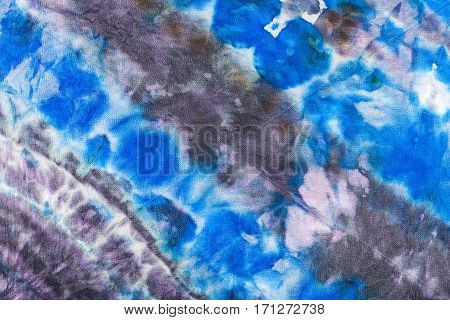 Abstract Blue And Violet Striped Pattern On Batik
