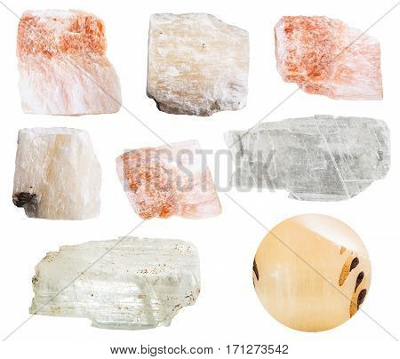 Collection Of Various Gypsum Mineral Stones