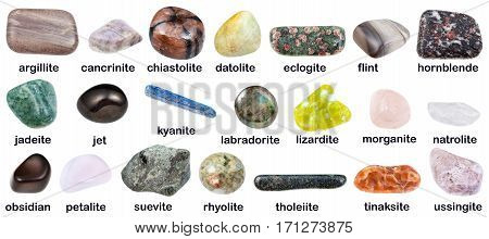 Collection Of Various Gemstones With Names