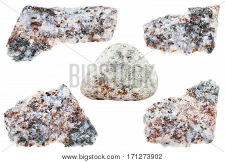 Collection Of Stones With Chondrodite Crystals