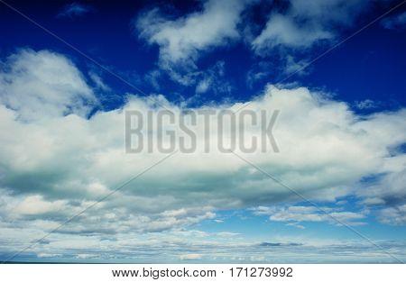 summer landscape beautiful cumulus clouds. Carpathian, Ukraine Europe