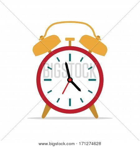 alarm clock time to wake up. vector illustration on a white background