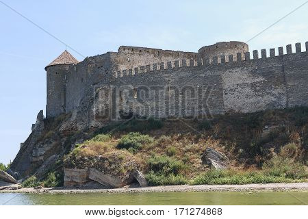 City walls and towers of the old fortress. Belgorod-Dniester Ukraine