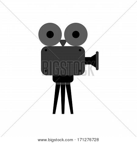 Video projector on the white background. Vector illustration