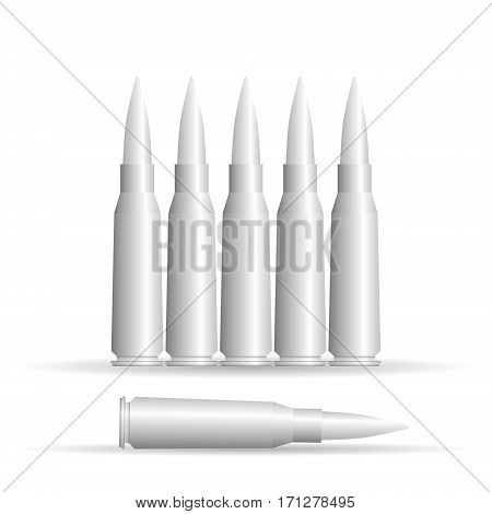 Set of cartridges on white background. Vector illustration