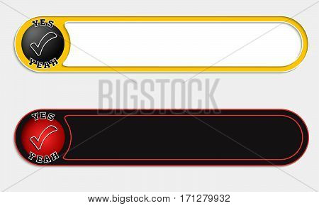 Two vector abstract buttons and check box