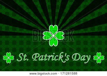 St. Patrick's Day , green background ,