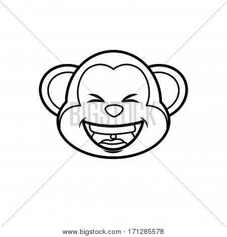 Cute monkey cartoon icon vector illustration graphic design
