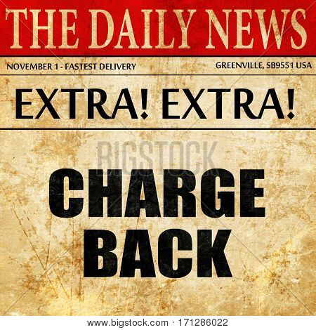 chargeback, article text in newspaper