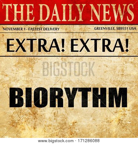 biorythm, article text in newspaper