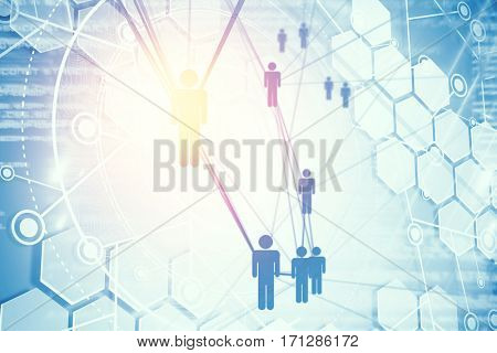 Digital composite image of people icons and binary codes 3d