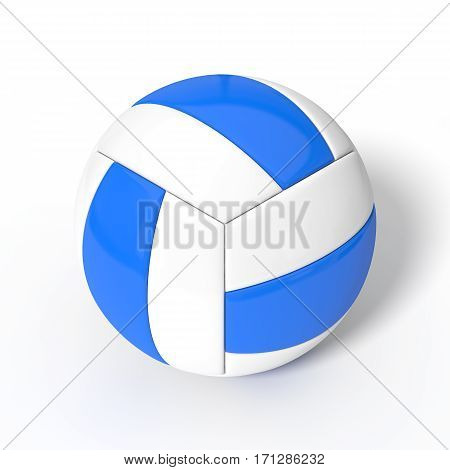 3d illustration of simple volleyball ball. isolated on white.
