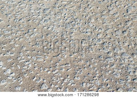 Old rocks road. Gravel road texture. Travel background