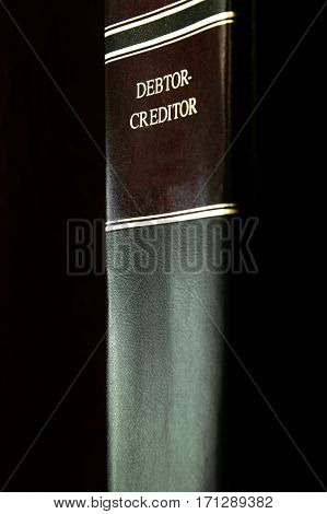 Closup of debtor and creditor law manual book
