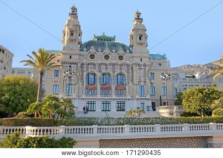 Concert Hall in Monaco, facing the beach.