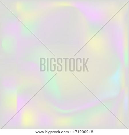 Holographic pearl background. Iridescent hologram grey backdrop. Nacreous pearl texture paper.