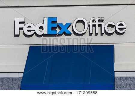 Indianapolis - Circa February 2017: Local FedEx Office Location. FedEx Office offers retail Ground and Express shipping as well as printing and copying II
