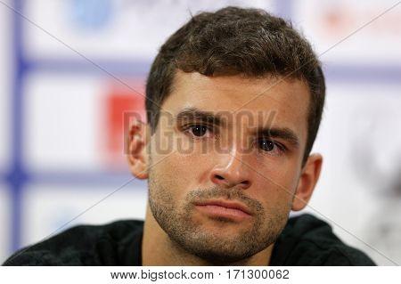 Tennis Player Grigor Dimitrov Portrait