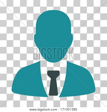 Businessman icon. Vector illustration style is flat iconic bicolor symbol soft blue colors transparent background. Designed for web and software interfaces.