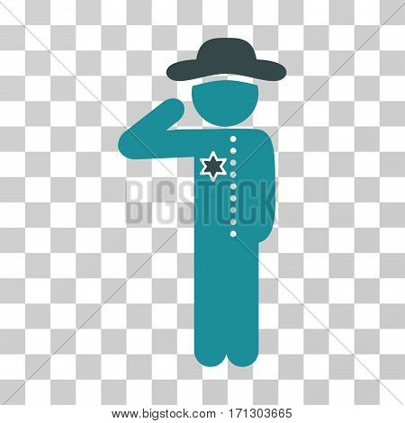 Gentleman Officer icon. Vector illustration style is flat iconic bicolor symbol soft blue colors transparent background. Designed for web and software interfaces.