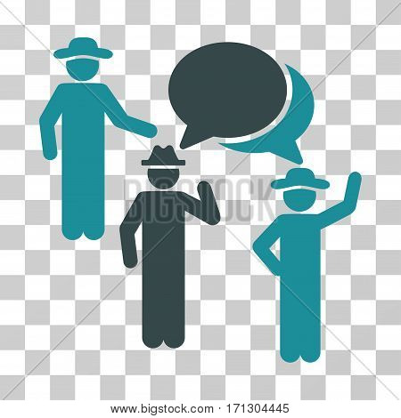 Gentlemen Discussion icon. Vector illustration style is flat iconic bicolor symbol soft blue colors transparent background. Designed for web and software interfaces.