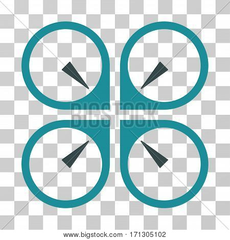 Hover Drone icon. Vector illustration style is flat iconic bicolor symbol soft blue colors transparent background. Designed for web and software interfaces.