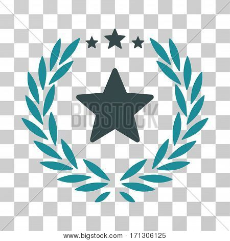 Proud Emblem icon. Vector illustration style is flat iconic bicolor symbol soft blue colors transparent background. Designed for web and software interfaces.