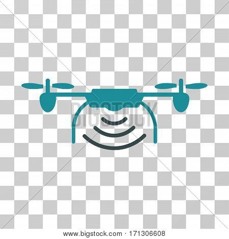 Radio Transmitter Airdrone icon. Vector illustration style is flat iconic bicolor symbol soft blue colors transparent background. Designed for web and software interfaces.