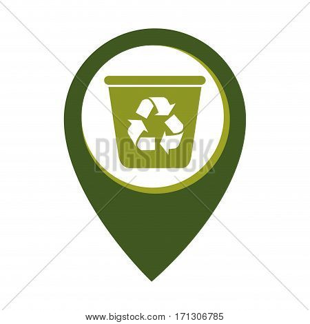 mark icon with recycling container vector illustration