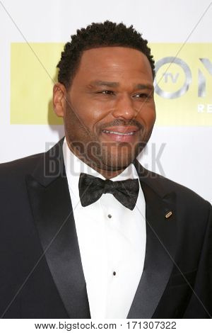 LOS ANGELES - FEB 11:  Anthony Anderson at the 48th NAACP Image Awards Arrivals at Pasadena Conference Center on February 11, 2017 in Pasadena, CA