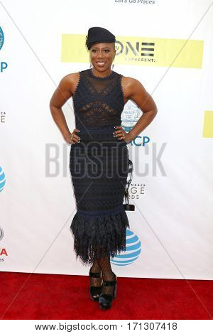 LOS ANGELES - FEB 11:  Aisha Hinds at the 48th NAACP Image Awards Arrivals at Pasadena Conference Center on February 11, 2017 in Pasadena, CA