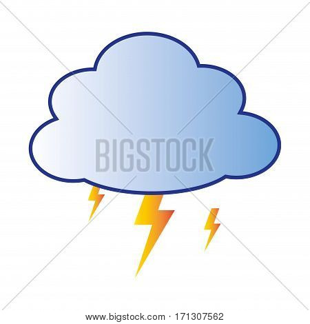 storm with cloud and thunder vector illustration