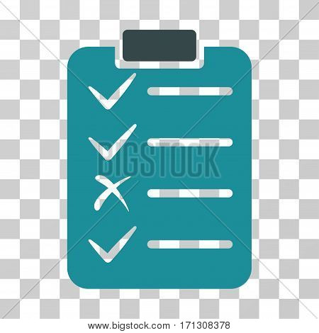 Task List icon. Vector illustration style is flat iconic bicolor symbol soft blue colors transparent background. Designed for web and software interfaces.