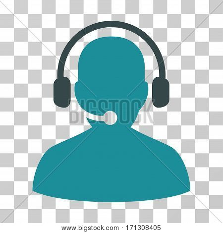 Telemarketing icon. Vector illustration style is flat iconic bicolor symbol soft blue colors transparent background. Designed for web and software interfaces.