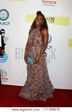 LOS ANGELES - FEB 11:  Issa Rae at the 48th NAACP Image Awards Arrivals at Pasadena Conference Center on February 11, 2017 in Pasadena, CA
