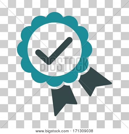 Validity Seal icon. Vector illustration style is flat iconic bicolor symbol soft blue colors transparent background. Designed for web and software interfaces.