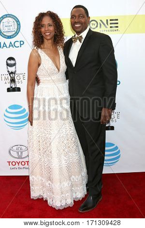 LOS ANGELES - FEB 11:  Sondra Spriggs, Mykelti WIlliamson at the 48th NAACP Image Awards Arrivals at Pasadena Civic Auditorium on February 11, 2017 in Pasadena, CA