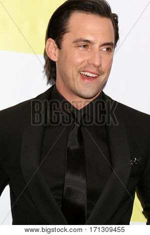 LOS ANGELES - FEB 11:  Milo Ventimiglia at the 48th NAACP Image Awards Arrivals at Pasadena Conference Center on February 11, 2017 in Pasadena, CA