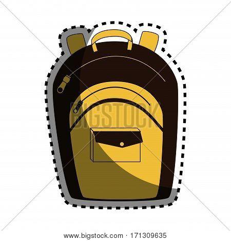 sticker colorful of briefcase school vector illustration